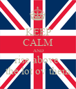 KEEP CALM AND rise above  the lot ov them - Personalised Poster large