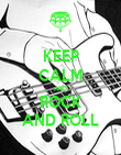 KEEP CALM AND ROCK AND ROLL - Personalised Poster large