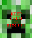 KEEP CALM AND RUN!!!!!!  - Personalised Poster large