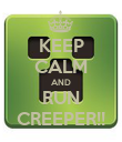 KEEP CALM AND RUN CREEPER!! - Personalised Poster large