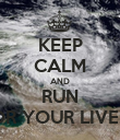 KEEP CALM AND RUN FOR YOUR LIVES!  - Personalised Poster large