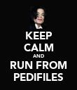 KEEP CALM AND RUN FROM PEDIFILES - Personalised Poster large