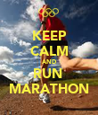 KEEP CALM AND RUN  MARATHON - Personalised Poster large