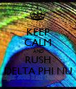 KEEP CALM AND RUSH DELTA PHI NU - Personalised Poster large