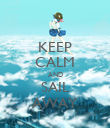 KEEP CALM AND SAIL AWAY - Personalised Poster large