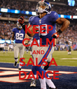 KEEP CALM AND SALSA DANCE - Personalised Poster large