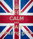 KEEP CALM AND °SAN° amazing girl's - Personalised Poster large