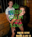 KEEP CALM AND SANP  - Personalised Poster large