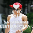 KEEP CALM AND SARANGHAE LEETEUK OPPA ♥ - Personalised Poster large