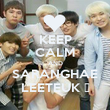 KEEP CALM AND SARANGHAE LEETEUK ♥ - Personalised Poster large
