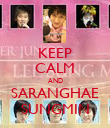 KEEP CALM AND SARANGHAE SUNGMIN - Personalised Poster large