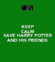 KEEP CALM AND SAVE HARRY POTTER AND HIS FRIENDS - Personalised Poster large