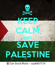 KEEP CALM AND SAVE PALESTINE - Personalised Poster large