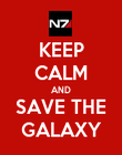 KEEP CALM AND SAVE THE GALAXY - Personalised Poster large