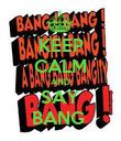 KEEP CALM AND SAY BANG  - Personalised Poster large