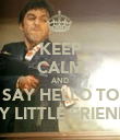 KEEP CALM AND SAY HELLO TO MY LITTLE FRIEND! - Personalised Poster large