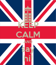 KEEP CALM AND say hi! - Personalised Poster large
