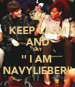 KEEP CALM AND SAY '' I AM  NAVYLIEBER'' - Personalised Poster large