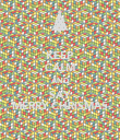 KEEP CALM AND SAY MERRY CHRISMAS - Personalised Poster large