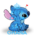 KEEP CALM AND SAY OHANA - Personalised Poster large