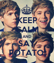 KEEP CALM AND SAY POTATO! - Personalised Poster large