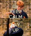 KEEP CALM AND SAY UP - Personalised Poster large