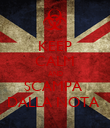 KEEP CALM AND SCAMPA  DALLA NOTA  - Personalised Poster large