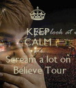 KEEP CALM And Scream a lot on  Believe Tour - Personalised Poster large