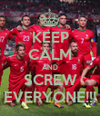 KEEP CALM AND SCREW EVERYONE!!! - Personalised Poster large