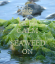 KEEP CALM AND SEAWEED ON - Personalised Poster large