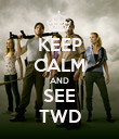 KEEP CALM AND SEE TWD - Personalised Poster large