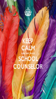 KEEP CALM AND SEE YOUR SCHOOL COUNSELOR - Personalised Poster large