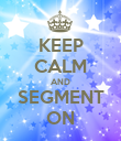 KEEP CALM AND SEGMENT ON - Personalised Poster large