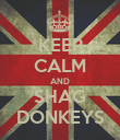 KEEP CALM AND SHAG DONKEYS - Personalised Poster large