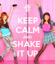 KEEP CALM AND SHAKE  IT UP - Personalised Poster large