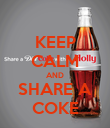 KEEP CALM AND SHARE A COKE - Personalised Poster small
