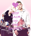 KEEP CALM AND SHIP BAEKREN - Personalised Poster large