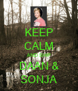 KEEP CALM AND SHIP DAAN & SONJA - Personalised Poster large