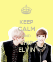 KEEP CALM AND SHIP ELVIN - Personalised Poster large