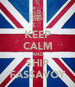 KEEP CALM AND SHIP FASSAVOY - Personalised Poster large