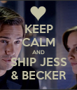 KEEP CALM AND SHIP JESS & BECKER - Personalised Poster large