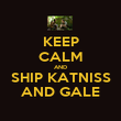 KEEP CALM AND SHIP KATNISS AND GALE - Personalised Poster large