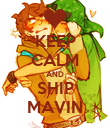 KEEP CALM AND SHIP MAVIN - Personalised Poster large