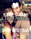 KEEP CALM  AND  SHIP NISTINA - Personalised Poster small