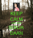 KEEP CALM AND SHIP SONJA  DAAN - Personalised Poster large