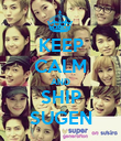 KEEP CALM AND SHIP SUGEN - Personalised Poster large