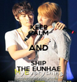 KEEP CALM AND SHIP THE EUNHAE - Personalised Poster large