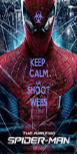 KEEP  CALM AND SHOOT WEBS - Personalised Poster large
