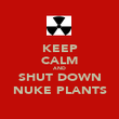 KEEP CALM AND SHUT DOWN NUKE PLANTS - Personalised Poster large