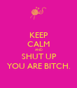 KEEP CALM AND SHUT UP YOU ARE BITCH. - Personalised Poster large